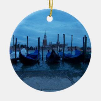 Venice Italy Gondolas Ceramic Ornament