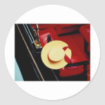 Venice Italy Gondoliers Hat ~ Italian Romance Classic Round Sticker
