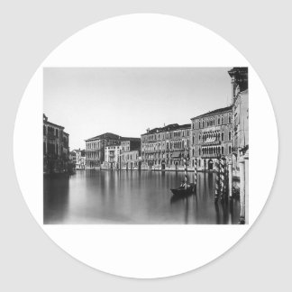 Venice Italy Grand Canal - Vintage Photo 1875 Round Sticker