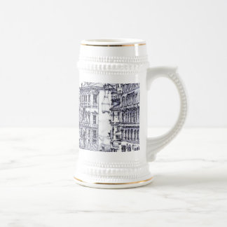 Venice, Italy, in ink Beer Stein