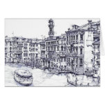 Venice, Italy, in ink Greeting Card