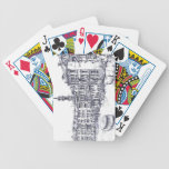Venice, Italy, in ink Poker Deck