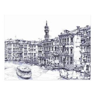 Venice, Italy, in ink Postcard