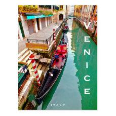 Venice, Italy (IT) - Colorful Gondola Station Postcard