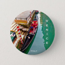 Venice, Italy (IT) - Gondola Station Pinback Button