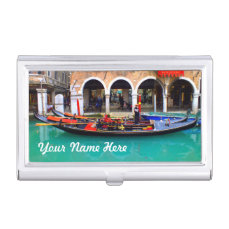 Venice, Italy (IT) - Gondolier Case For Business Cards