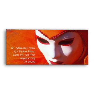 Venice, Italy (IT) - Orange Carnival Costume Envelope