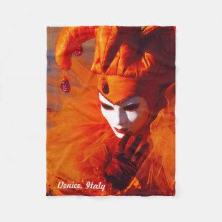 Venice, Italy (IT) - Orange Carnival Costume Fleece Blanket