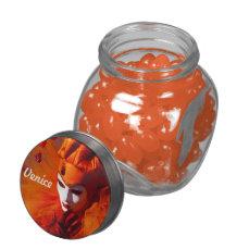 Venice, Italy (IT) - Orange Carnival Costume Jelly Belly Candy Jar