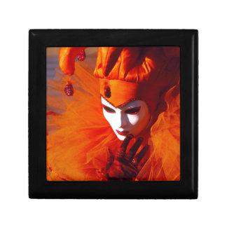 Venice, Italy (IT) - Orange Carnival Costume Jewelry Box