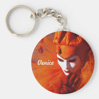 Venice, Italy (IT) - Orange Carnival Costume Keychain