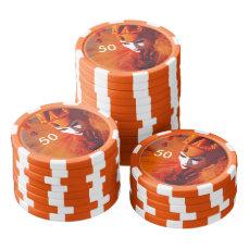 Venice, Italy (IT) - Orange Carnival Costume Poker Chip Set