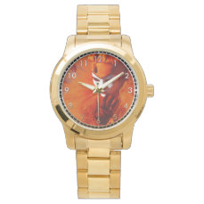 Venice, Italy (IT) - Orange Carnival Costume Wrist Watch