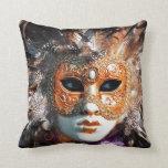 Venice Italy: Men´s Venetian carnival mask, Pillows