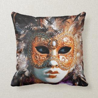 Venice Italy: Men´s Venetian carnival mask, Pillow