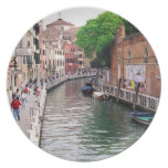 Venice, Italy Party Plate
