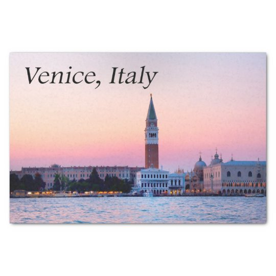 Venice, Italy Pink Sunset Tissue Paper