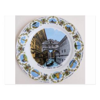 venice-italy-plate-787 tarjeta postal