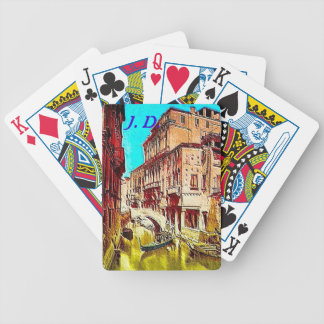 Venice Italy Playing cards & monogrammed letters