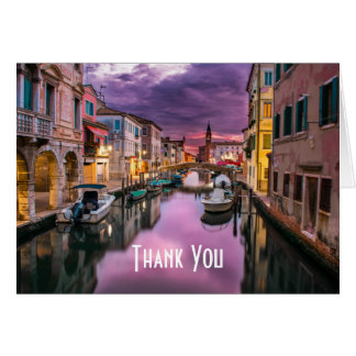 Venice, Italy Scenic Canal Landscape Thank You Card