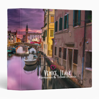 Venice, Italy Scenic Canal & Venetian Architecture Binder