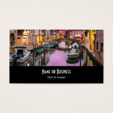 Venice, Italy Scenic Canal & Venetian Architecture Business Card at Zazzle