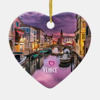 Venice, Italy Scenic Canal & Venetian Architecture Ceramic Ornament
