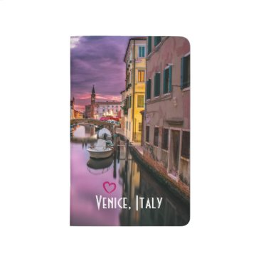 Valentines Themed Venice, Italy Scenic Canal & Venetian Architecture Journal