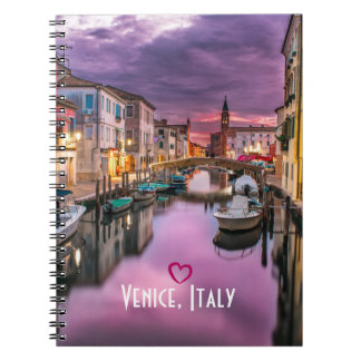 Venice, Italy Scenic Canal & Venetian Architecture Notebook