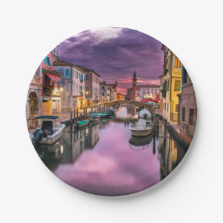 Venice, Italy Scenic Canal & Venetian Architecture Paper Plate