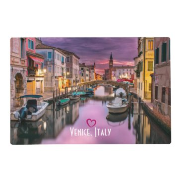 Valentines Themed Venice, Italy Scenic Canal & Venetian Architecture Placemat