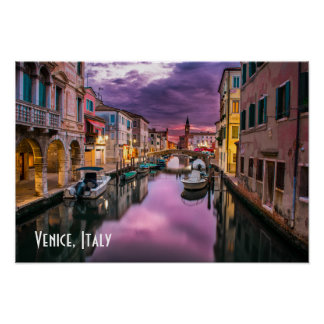 Venice, Italy Scenic Canal & Venetian Architecture Poster