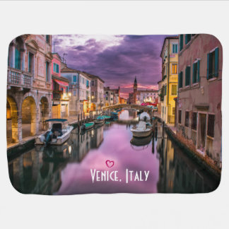 Venice, Italy Scenic Canal & Venetian Architecture Stroller Blanket