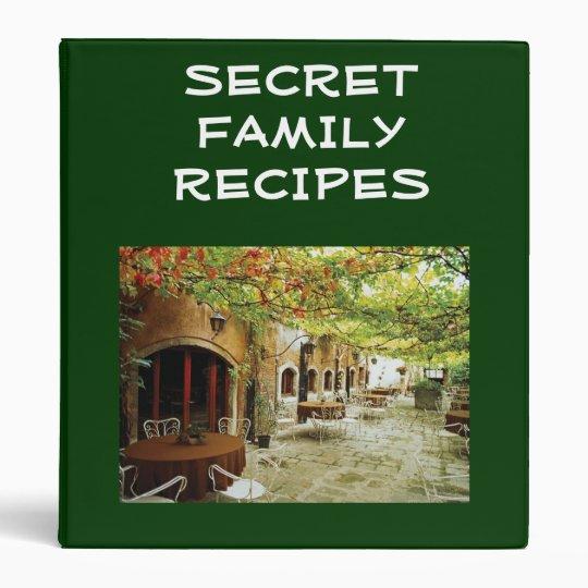 VENICE ITALY SECRET FAMILY RECIPES BINDER
