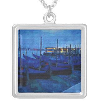 Venice Italy Square Pendant Necklace