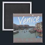 "Venice Italy Travel Photo Souvenir Fridge Magnet<br><div class=""desc"">Refrigerator magnets picture a scenic view in Venice,  Italy.</div>"