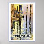 Venice Italy / Venise Et Le Lido Travel Posters