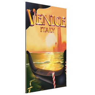 Venice, Italy vintage travel poster Canvas Print