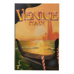 Venice, Italy vintage travel poster Wood Canvas