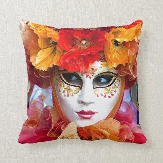 Venice Italy: Woman´s Venetian carnival mask, Pillow