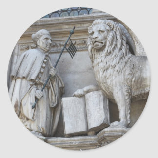 Venice Lion Round Sticker