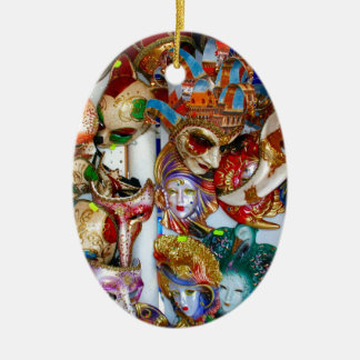 Venice Masks Christmas Ornaments