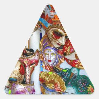 Venice Masks Triangle Stickers