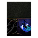 Venice Masquerade Mask Blue Placecard Business Card Templates