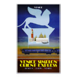Venice, Orient Express travel poster