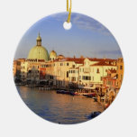 Venice Double-Sided Ceramic Round Christmas Ornament