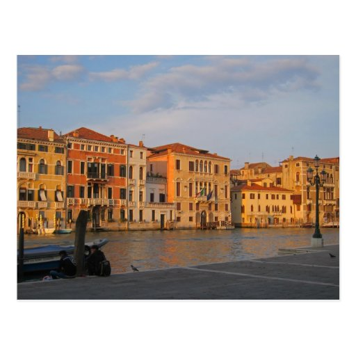 Venice - Palazzos on the Grand Canal Postcard