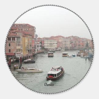 Venice: Picturesque Venice Classic Round Sticker