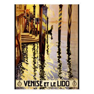 Venice poster postcard