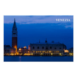 Venice Poster with San Marco Square
